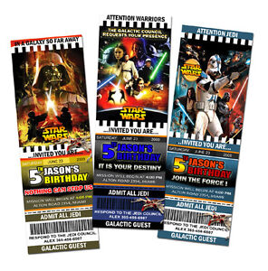 Image Is Loading STAR WARS THE CLONE BIRTHDAY PARTY INVITATION TICKET