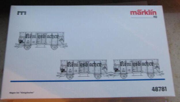 Märklin MHI H0 AC 48781 Wagen-Set Königsbacher Bier DB NEM KK, NEUW+OVP