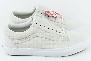 c3ea42fcf9 Vans Old Skool Suede Checkers White Mens Size 8.5 Skate Shoes Womens ...