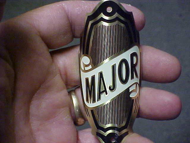 Major Bike Badge Bicycle Emblem Acid Etched Brass