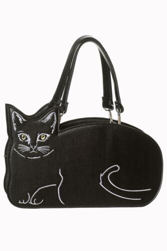 BANNED Kitty Cat Bag KATZE Tasche Schultertasche Rockabilly Meow NEU