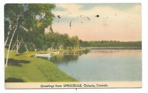 Parry-Sound-District-Greetings-from-SPRUCEDALE-ONTARIO-Circa-1947