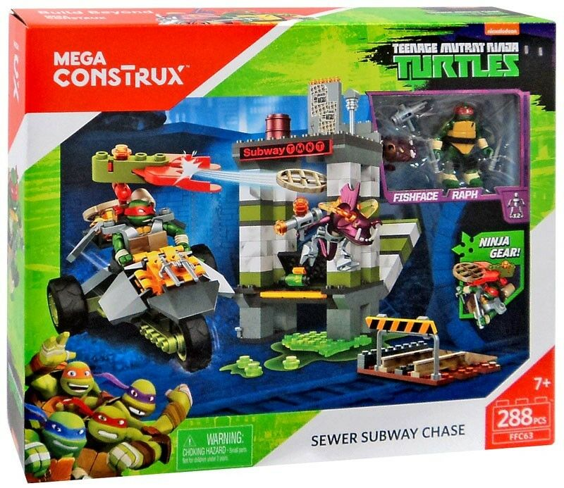 Teenage Mutant Ninja Turtles Mega Construx Sewer Subway Chase Set FFC63