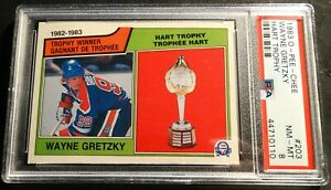 1983-O-PEE-CHEE-WAYNE-GRETZKY-HART-TROPHY-203-PSA-8-OILERS-HOF-454