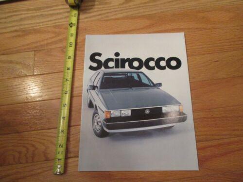 Volkswagon VW Scirocco NOS original Dealer car Sales Brochure 1982 Catalog