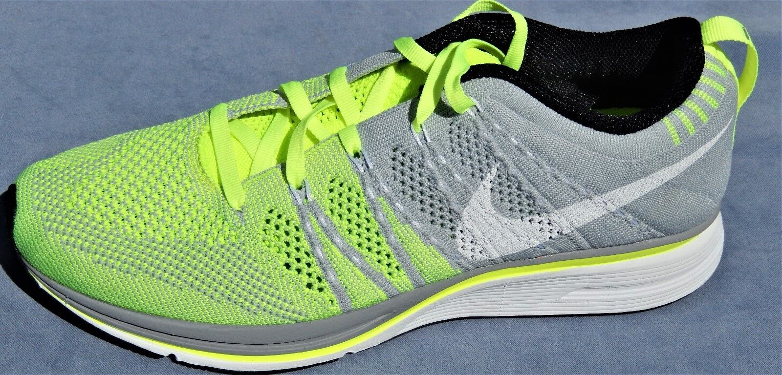 NEW 2013 NIKE FLYKNIT TRAINER +MENS SIZE 9.5 532984-714 WOMENS 11 VOLT GREEN 532984-714 9.5 33f8c1