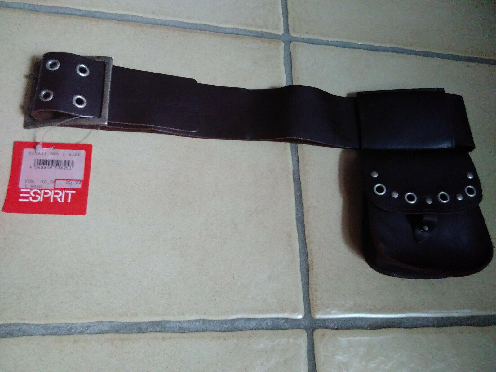 ESPRIT Taschen & Gürtel ~ Echtleder ~ Nieten ~ Braun ~ NEU