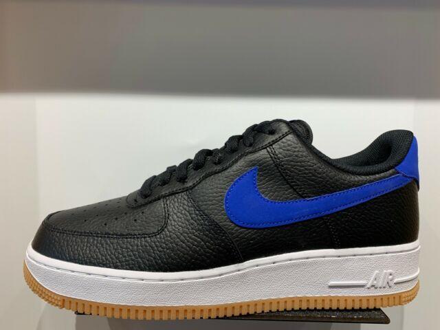 big sale fb81c cae02 Nike Air Force One 1 Low Black Game Royal Blue Gum Bottom Men Size 7-15 AF1