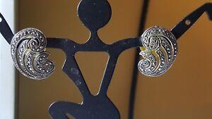 Vintage-sterling-silver-marcasite-earrings