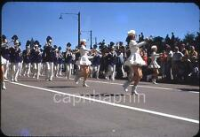 Beatiful Prancing MAJORETTES Twirl Batons in Parade Vintage 1950s Slide Photo