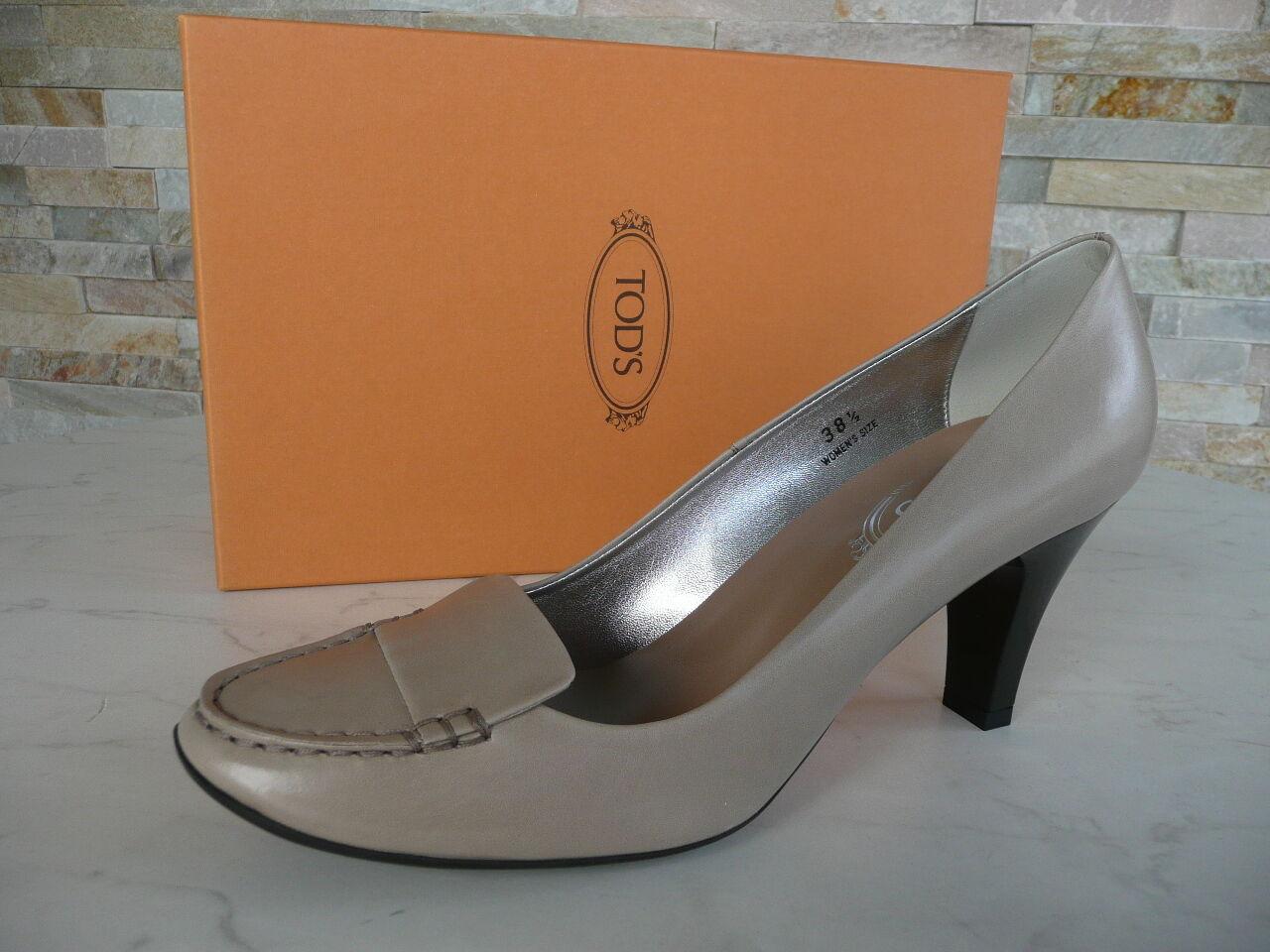 Original Tods Muerte´S Tacones Talla 39,5 Zapatos Zapatos Zapatos Bajos gris Beige Nuevo  descuento online