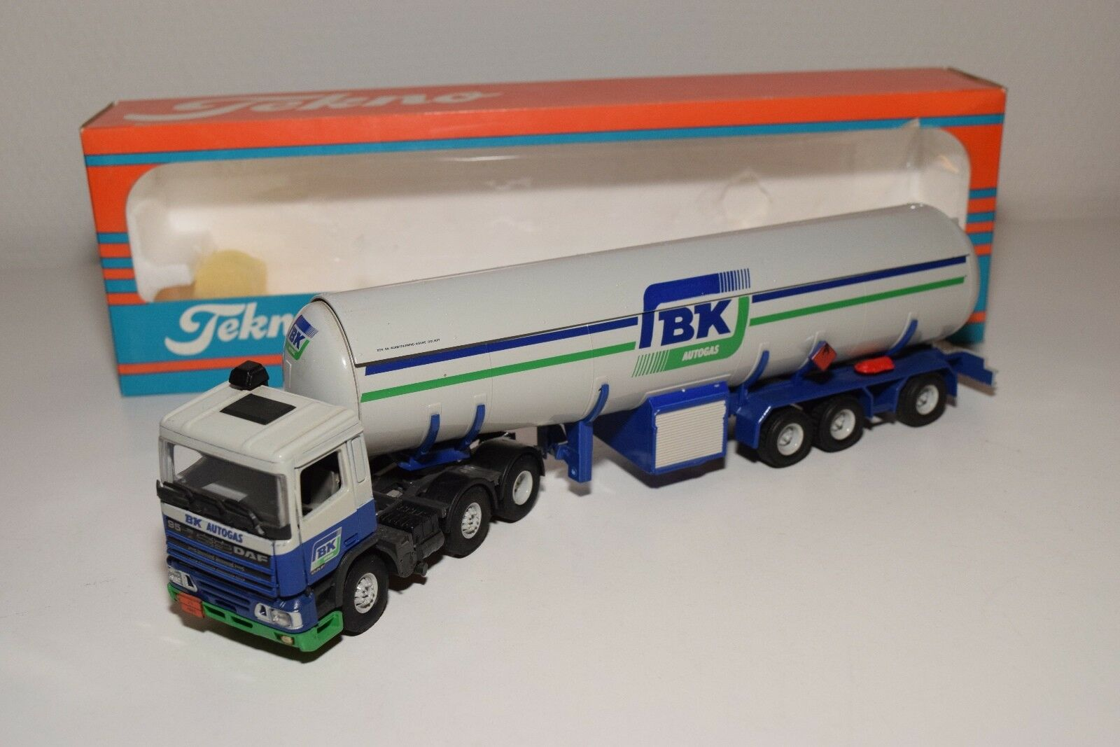 S TEKNO DAF 95 TRUCK WITH TANKER TRAILER BK AUTOGAS MINT BOXED