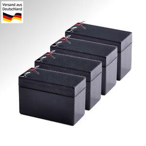 4x 12 V Battery Apc Rbc133 Pour Smart Ups 1500 Onduleur Plomb Gel Batterie 7ah 8ah 9ah Accu-afficher Le Titre D'origine Brillant En Couleur