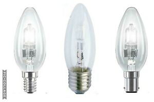 STATUS HALOGEN CANDLE CHANDELIER ENERGY SAVING DIMMABLE LIGHT BULB SES BC SBC ES