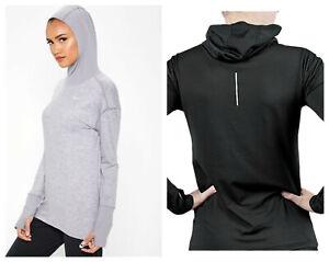 Nike Element Women's Running Hoodie Dri-Fit Knit Long-Sleeve Women's Running  XS | eBay