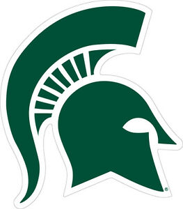 michigan state university spartan logo cornhole decals set of 2 ebay rh ebay com michigan state logo change michigan state logo vector