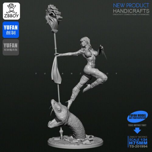 1//24 Figure The Python Dance Unassembled scale 75mm model