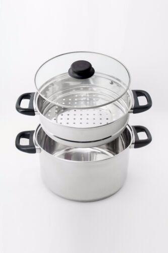 NEW 24cm Steamer Stacker Stainless Fits  24cm Pot Casserole Dutch Oven  RRP $22