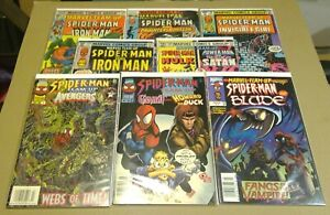 Marvel Team-up Lot 8 Issues 1976-1997 All Newsstand Editions Spider-Man Blade