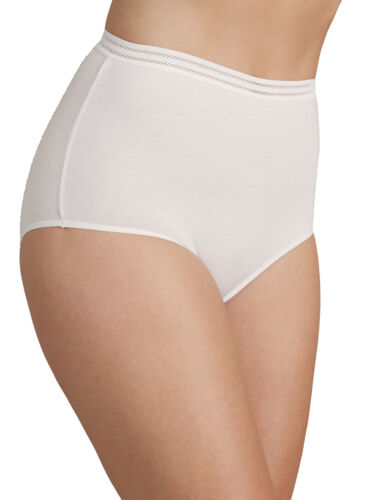 NEW M/&S COTTON BLEND NO VPL WHITE FULL BRIEF KNICKERS SIZES 8 TO 16