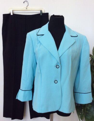Mismatched Black Sz16 Turquoise Donna Suit Pant pezzi I Euc 2 Studio w1BXEE