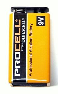 Duracell-PROCELL-9-Volt-9V-Professional-Alkaline-Battery-NEW-Fresh-PC1604