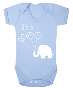 Its a Boy Reveal Baby Vest Babygrow Pregnancy Announcement Baby Reveal