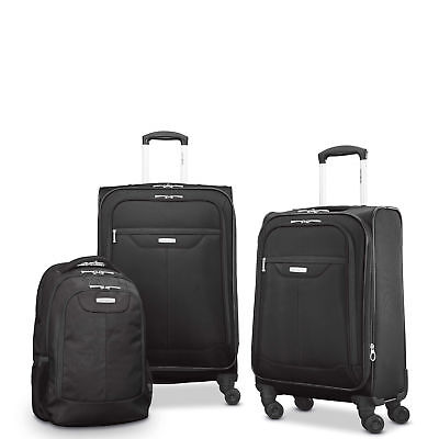 "Samsonite Tenacity 3 Piece Luggage Set - Black, Blue, 25"", 21"", Backpack"
