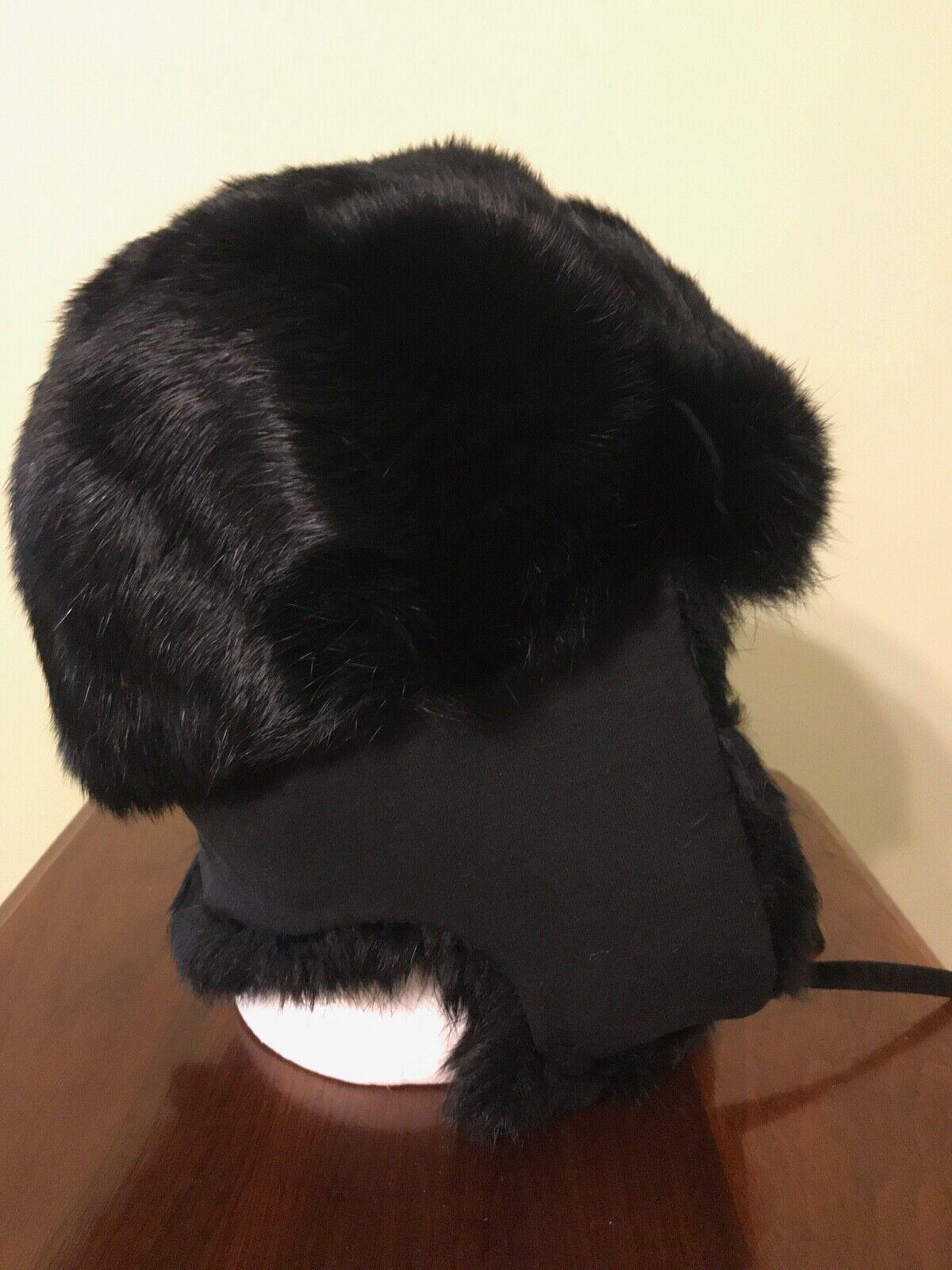 Vintage Black Mink Ladies' Hat with Flap Ear Muffs - image 8
