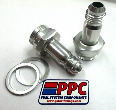 Pair of Carburetor Inlet Fittings fits Holley Carburetors 7//8-20 inch Thread