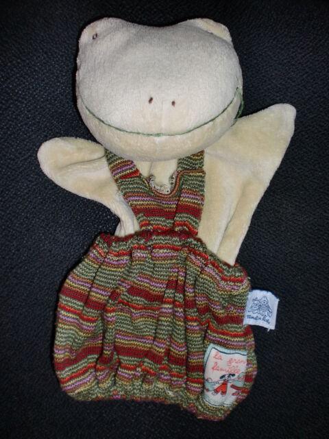 doudou marionnette grenouille MOULIN ROTY la grande famille