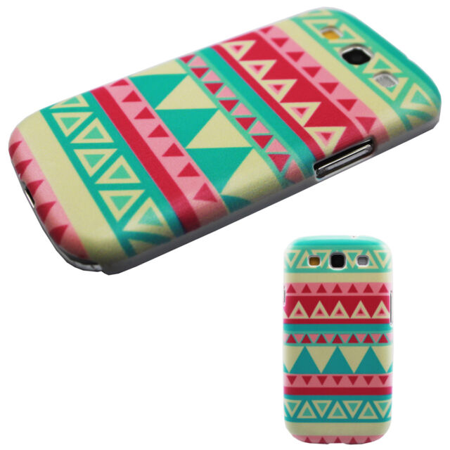 Vogue Triangle Striped Image Hard Back Case Snap-on for SAMSUNG i9300 Galaxy S3