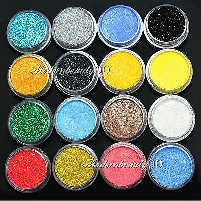 16 Mixed Color Glitter Powder Eyeshadow Makeup Eye Shadow Cosmetics SALON SET #1