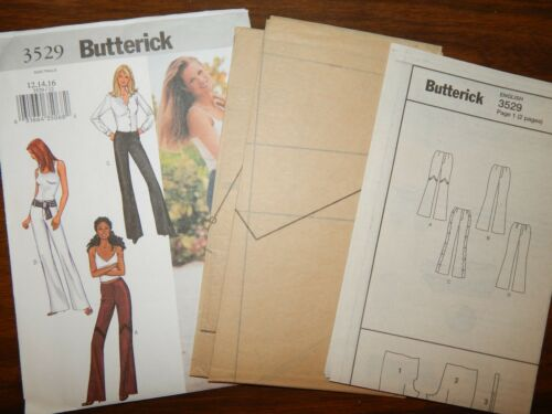 Butterick UC FF 3529 12 14 16 Pants Slacks Trouser Pattern Women/'s Below waist