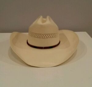 Wrangler Hat Cowboy Hat Size 6 7 8 Light Tan made in Texas Shantung ... 5e197418699