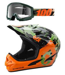661-CAMO-Comp-Full-Face-Gravity-Helmet-amp-100-Huntsitan-Camo-Goggles-Combo-Kit