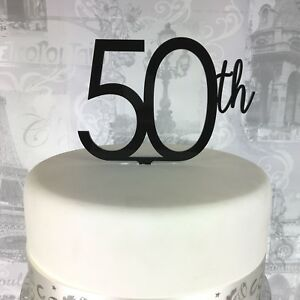 Image Is Loading 50th Cake Topper Birthday Numbers Joined Acrylic Various