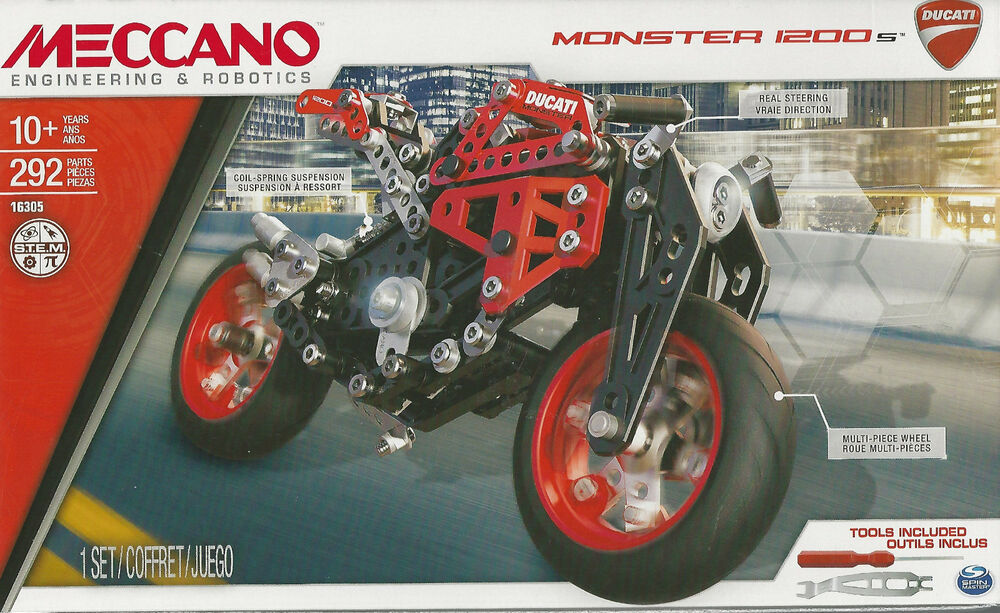 Meccano 16305 Ducati Monster 1200 S New Sealed 292 Pieces