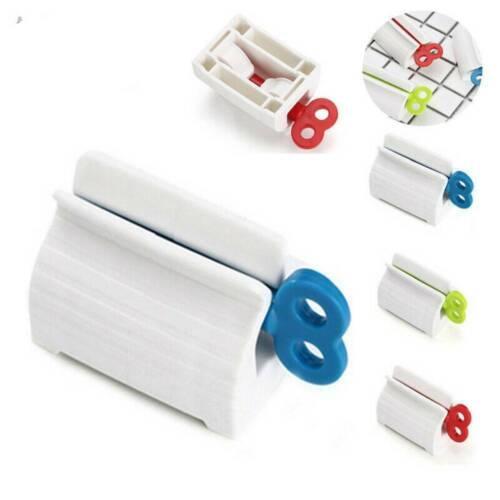Plastic Toothpaste Tube Squeezer Easy-Dispenser Rolling Holder Bathroom Supplies