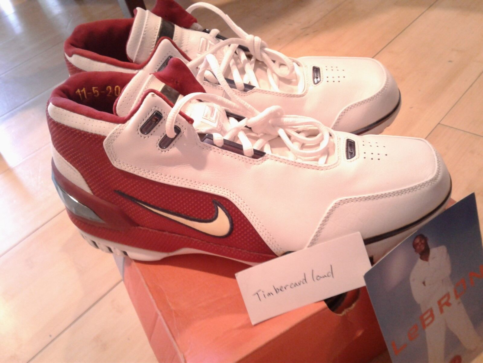 NIKE LEBRON AIR AIR AIR ZOOM GENERATION 1ST FIRST GAME Dimensione 11 100% AUTHENTIC WITH CARD d7babe