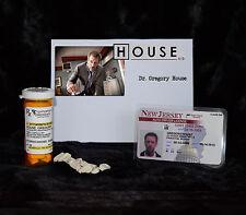 "TV SERIES HOUSE MD REPLICA PROP ""GREGORY HOUSE"" VICODIN BOTT:E & DRIVERS LICENSE"