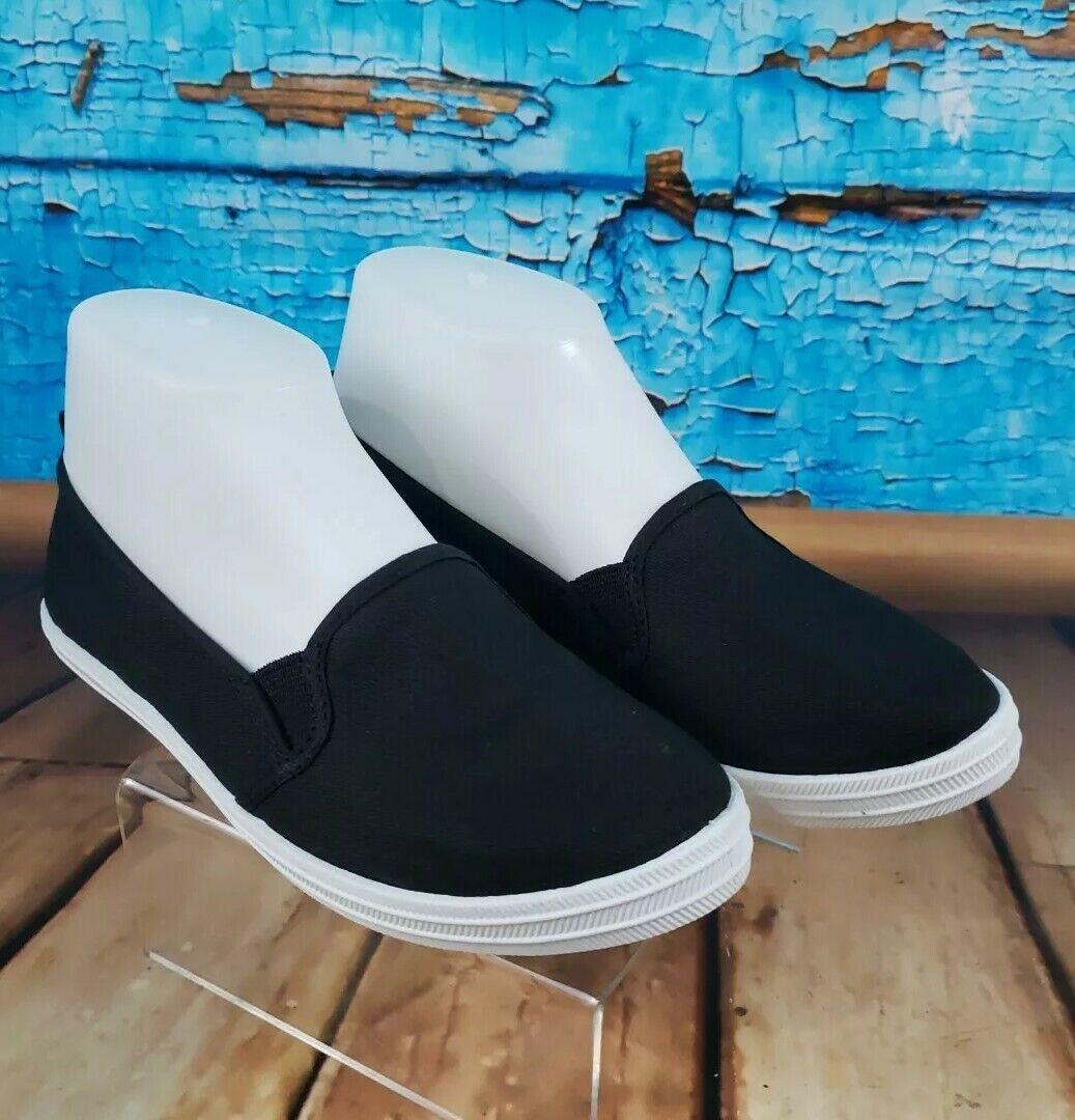 Black Slip On Canvas Sneakers Women's Small 5/6