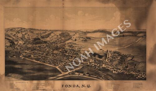 Map of Fonda New York c1889 24x16