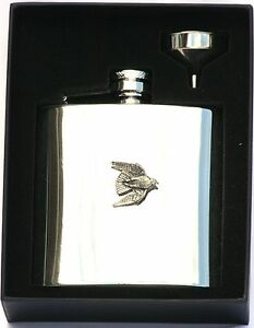 Stooping Falcon 6 oz Hip Flask Personalised Falconry Gift Boxed FREE ENGRAVING BNdtnl1W-09113545-112667747