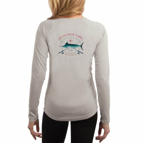 Marlin Rods BVI Women/'s UPF 50 UV//Sun Protection Long Sleeve Shirt