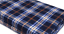 Black Tent Carpet 300cm x 130cm White and Orange Patterned fleece carpet