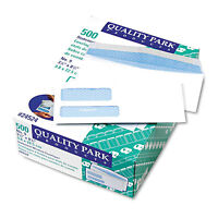 Quality Park Double Window Security Tinted Invoice & Check Envelope 9 White 500 on sale