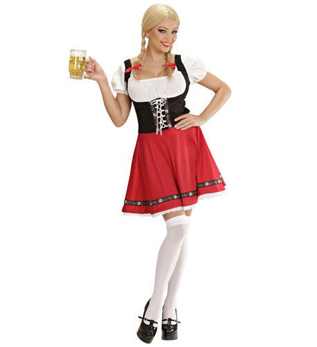 Ladies Oktoberfest Fancy Dress Costume German Bavarian Outfit Uk 6//8 Womens