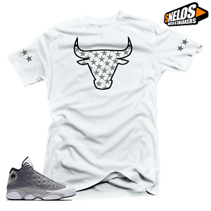 sale retailer 02e44 5c8c2 Image is loading Shirt-Match-Jordan-13-Atmosphere-Grey-Retro-Shoes-