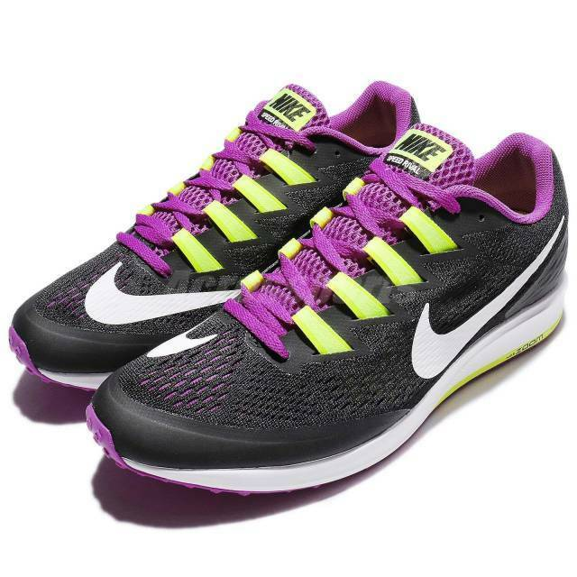 Men's Nike Air Zoom Speed Rival 6 Running shoes Black   purple Sz 10 880553 015